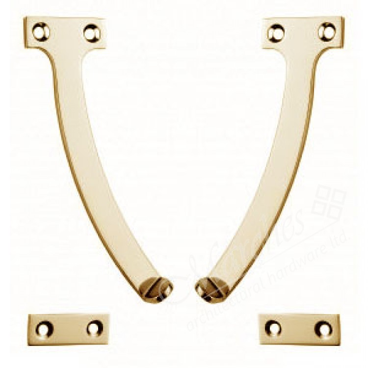 Carlisle 6 quadrant stay polished brass stays for Window quadrant