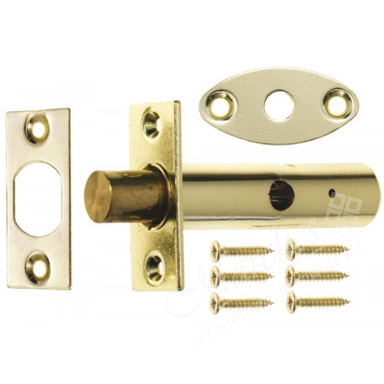 Yale Security Door Bolt With Key Brass Mortice