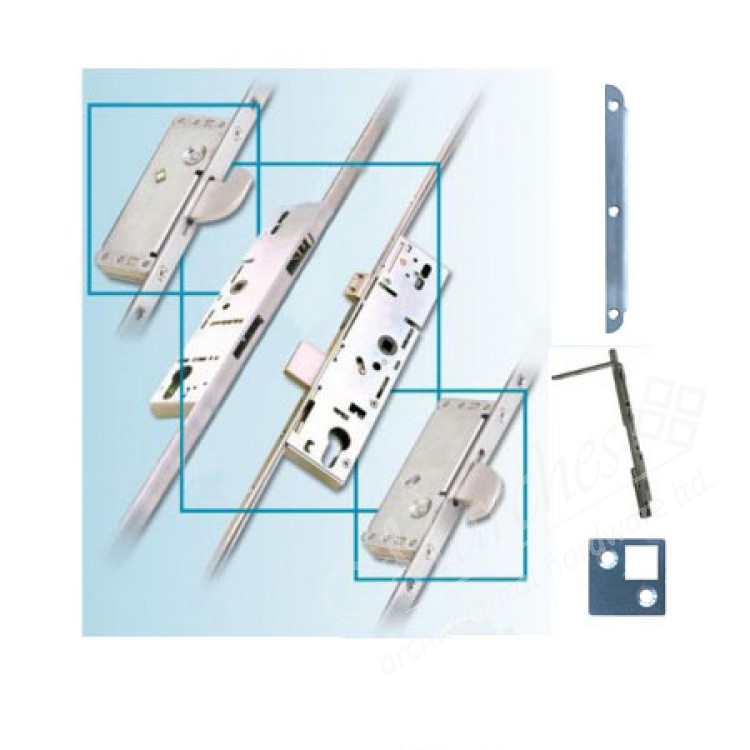 "French Door Locking Systems: French Door Multipoint Locking System Kit ""FOR 44mm DOOR"