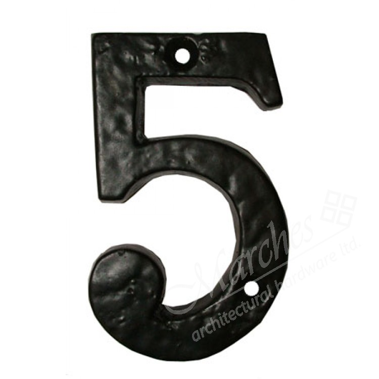 Ludlow numeral 5 black numbers letters front door for Furniture 5 letters