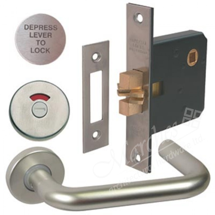 lever handle indicator and lock set disabled toilet bathroom