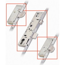 3 Point Door Lock 2 Hook 45mm Backset - Stainless Steel