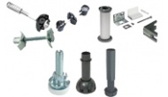 Cabinet carcase and plinth fittings